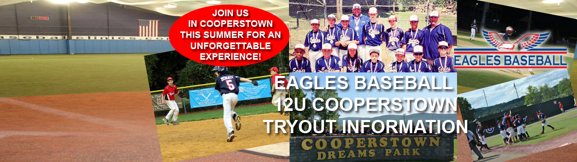 Join the 12U Eagles In Cooperstown This August